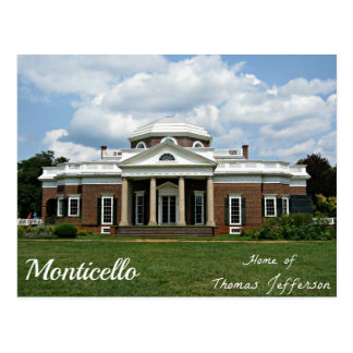 Monticello, Huis van Thomas Jefferson Briefkaart