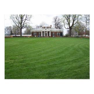 Monticello van Jefferson… de Achtertuin in April… Briefkaart