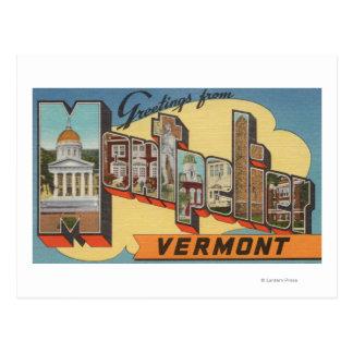 Montpelier, Vermont - de Grote Scènes van de Brief Briefkaart
