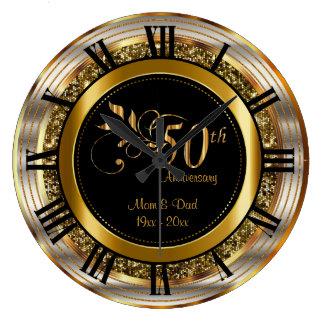 Mooi 50ste Gouden Jubileum Ronde Klok Large