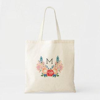 Mooi BloemenCanvas tas - Aanvankelijk Monogram