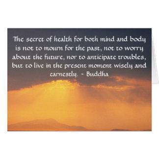 Mooi Boeddhistisch Citaat met inspirerend foto Kaart