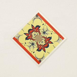 Mooi gouden rood eenvoudig gepersonaliseerd romig papieren servet