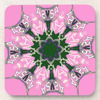 Mooi het motiefmonogram DE van de baby roze paars Onderzetter