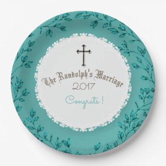 Mooi-huwelijk-Jubileum-viering-sjabloon Papieren Bordjes