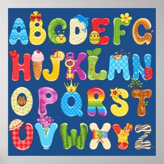 Mooi Kleurrijk Alfabet voor Kind, de Zaal van de Poster