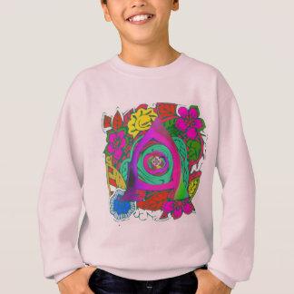 Mooi kleurrijk Bloemenlogoontwerp Met monogram Trui