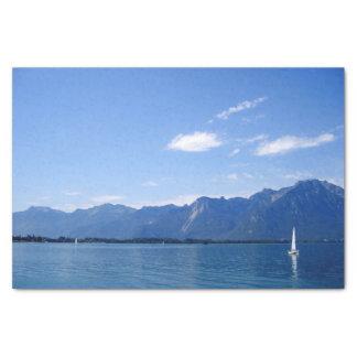 Mooi meer Genève Tissuepapier