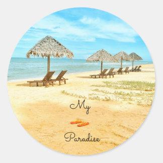 Mooi Mijn Strand van het Paradijs Ronde Sticker