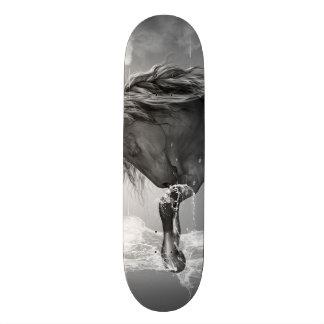 Mooi paard die water drink persoonlijk skateboard