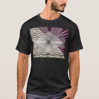 mooi paars patroonontwerp t shirt