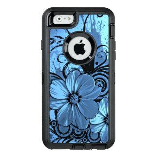mooi roze blauw bloemen vectorart. OtterBox iPhone 6/6s hoesje