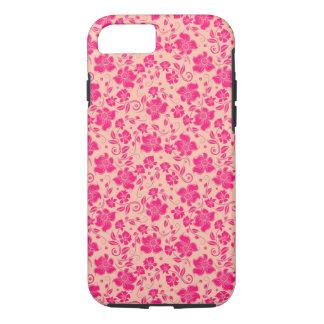 mooi roze bloemen vectorart. iPhone 7 hoesje