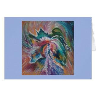 Mooie abstracte engel notecard briefkaarten 0
