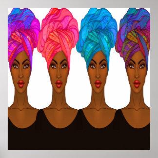 Mooie Afrikaanse Amerikaan - het Poster van de