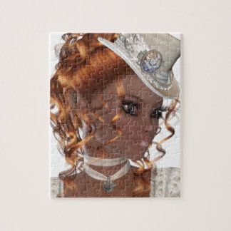 Mooie Afrikaanse Amerikaanse Vrouw Foto Puzzels