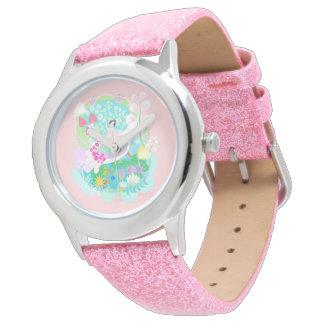 Mooie Ballerina met vogels met muffinhorloge Horloge
