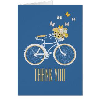 Mooie Blauw en Geel dankt u nota neemt van Kaart