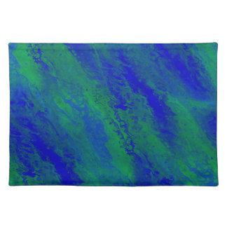 Mooie Blauwe en Groene BosDoek Placemat