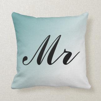 Mooie Blauwe en Witte M. en Mevr. van de Gradiënt Sierkussen