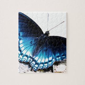 Mooie Blauwe Vlinder Puzzel