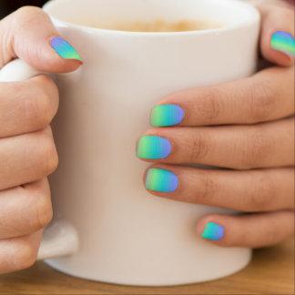 Mooie Blauwgroene Minx van het Patroon Minx Nail Art