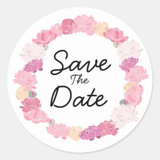 Mooie bloemenboho bewaart de stickers van de Datum