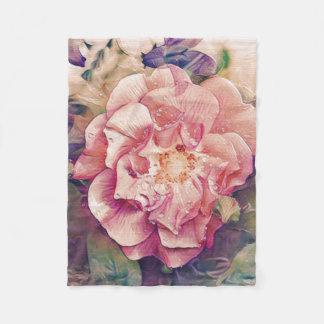 Mooie bloemendeken fleece deken