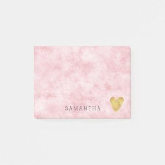 Mooie bloos het Roze Gouden Hart van de Waterverf Post-it® Notes