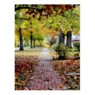 Mooie buurt tijdens Herfst Briefkaart