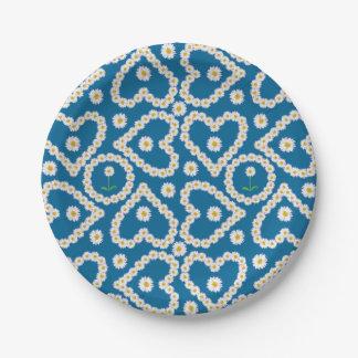 Mooie Daisy Chains op Blauw, de Borden van het Papieren Bordje