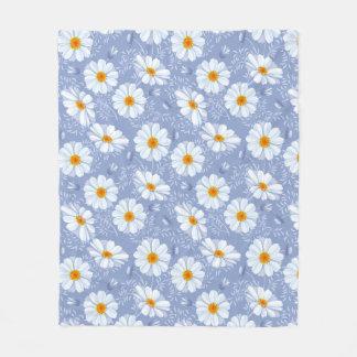 Mooie Daisy Custom Fleece Blanket, Middel