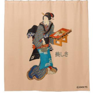 Mooie Dame Japanese Print 1 Utagawa Kunisada Douchegordijn