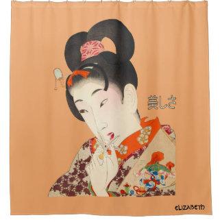 Mooie Dame Japanese Print 4 Toyohara Chikanobu Douchegordijn