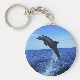 Mooie Dolfijn Keychain Basic Ronde Button Sleutelhanger