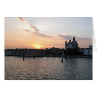 Mooie foto van de lagunelandschap van Venetië Wenskaart