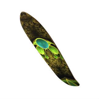 Mooie Fractal Veren van de Vogel van Quetzal 21,6 Cm Skateboard Deck