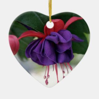 Mooie Fuchsia Keramisch Hart Ornament