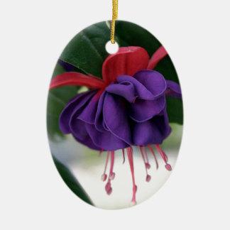 Mooie Fuchsia Keramisch Ovaal Ornament