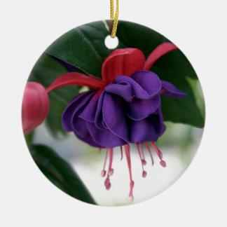 Mooie Fuchsia Rond Keramisch Ornament