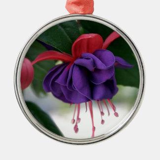 Mooie Fuchsia Zilverkleurig Rond Ornament