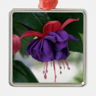 Mooie Fuchsia Zilverkleurig Vierkant Ornament
