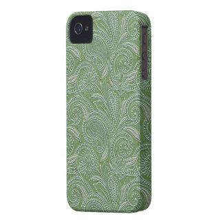 Mooie Groene & Zilveren iPhone 4 van Paisley iPhone 4 Hoesje