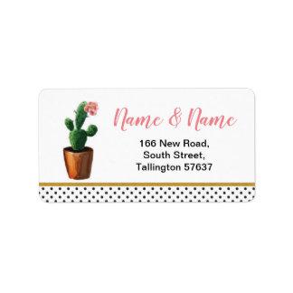 Mooie het Goud van de Stip van de Cactus van het Etiket