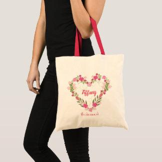 Mooie het Hart Gevormde Canvas tas van het