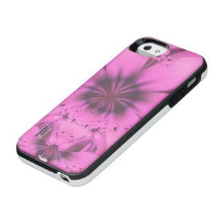 Mooie in de Roze Fractal Star-Shaped Petunia van iPhone SE/5/5s Batterij Hoesje
