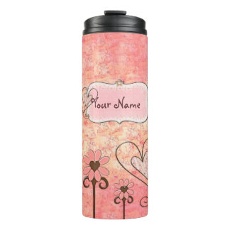 Mooie in de Roze Naam van de Douane Thermosbeker