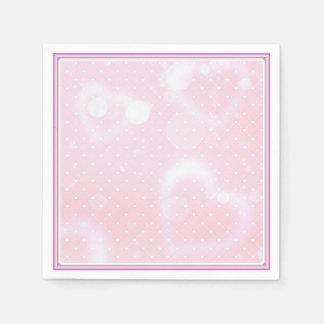 Mooie in roze cocktailservet papieren servetten