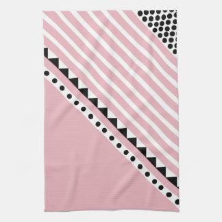 Mooie in roze theedoek