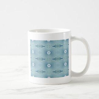 Mooie Klassieke Blauw in Modern Patroon Koffiemok
